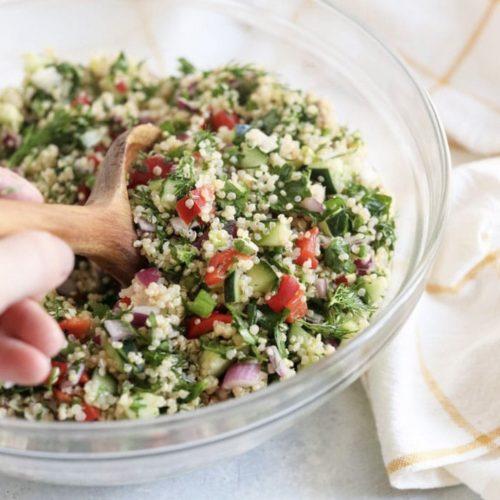 Healthy quinoa salad from JennaMaye Fitness