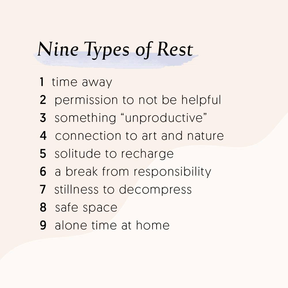 Nine Types of Rest Steph Hall recapped by JennaMaye Fitness